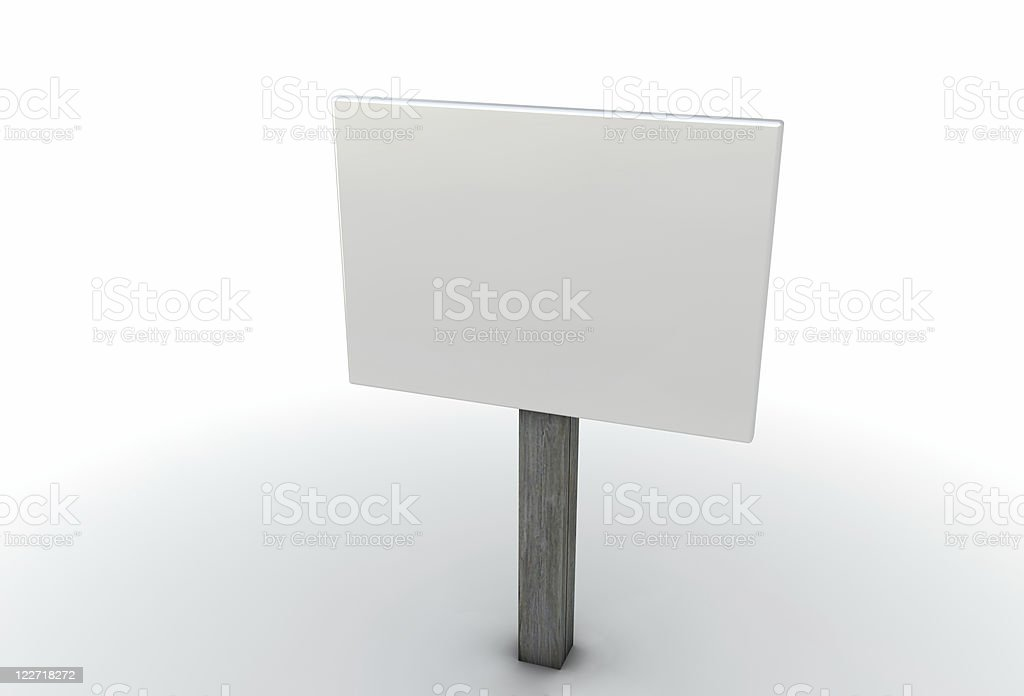 Isolated Yard Sign stock photo