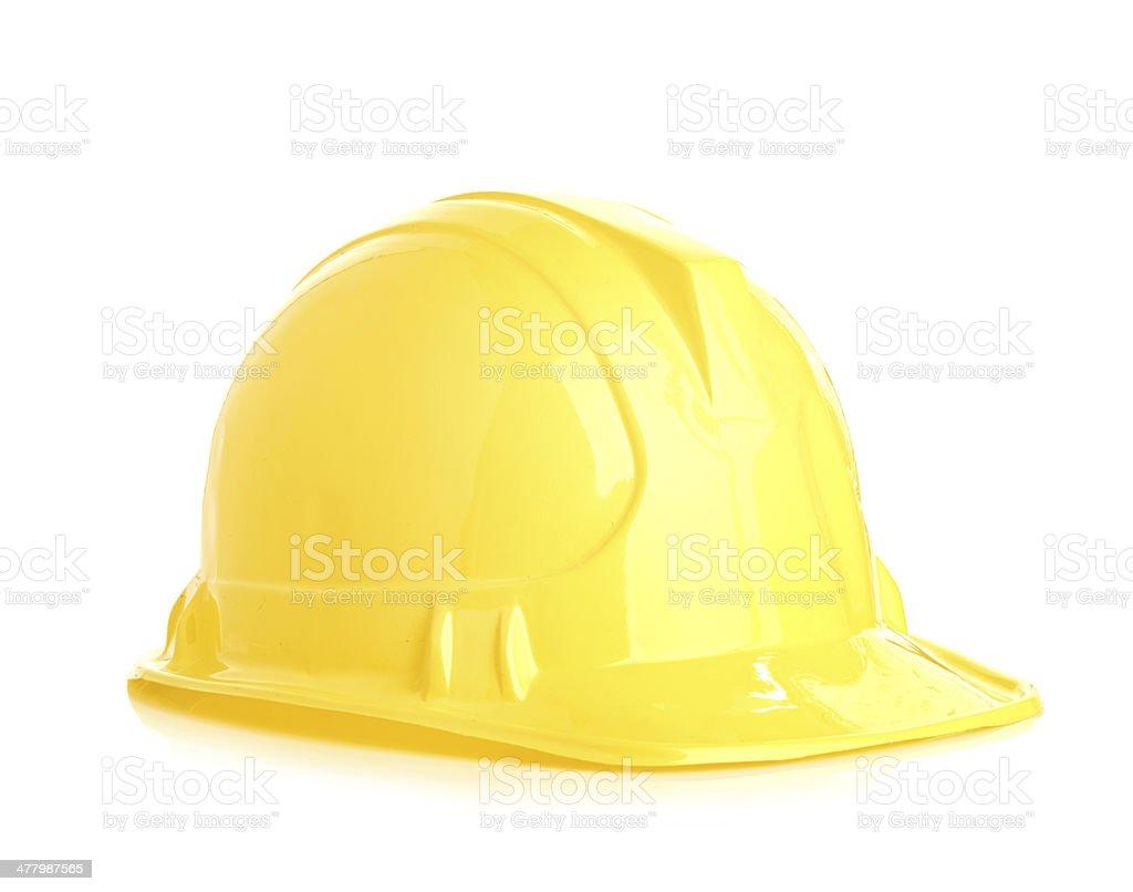 Isolated yellow helmet royalty-free stock photo