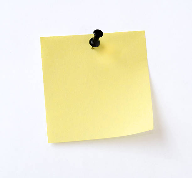 isolated yellow note - mail stock photos and pictures