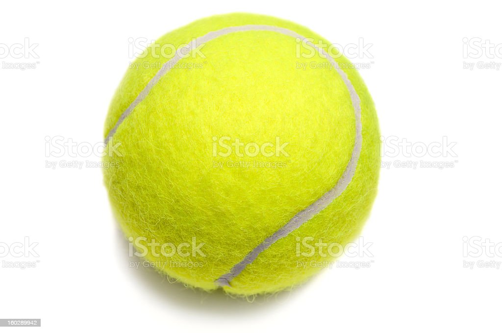 Isolated yellow tennis ball stock photo