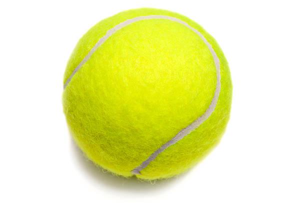 Balle de tennis isolé jaune - Photo