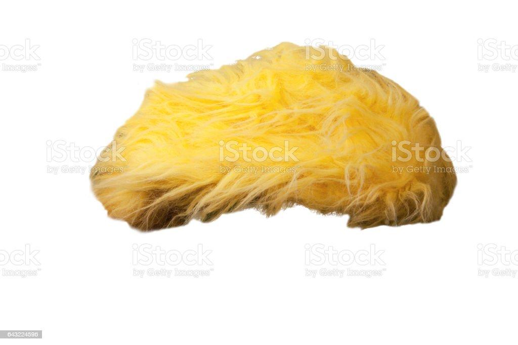 Isolated yellow toupee stock photo
