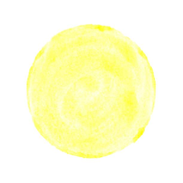 Isolierte gelben Aquarell Kreis – Foto
