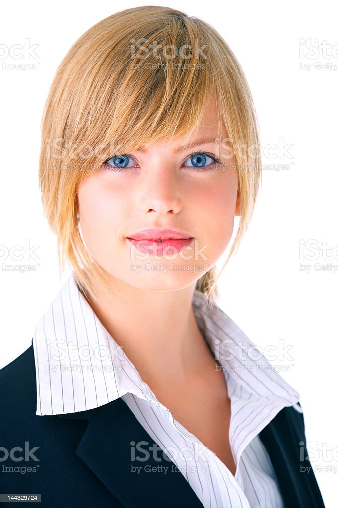 Isolated young female student royalty-free stock photo