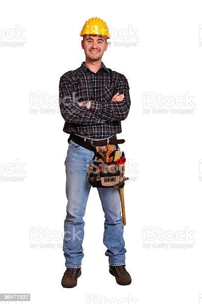 Isoliert Junge Arbeiter Mit Werkzeugen 7 Stockfoto und mehr Bilder von Bauarbeiter