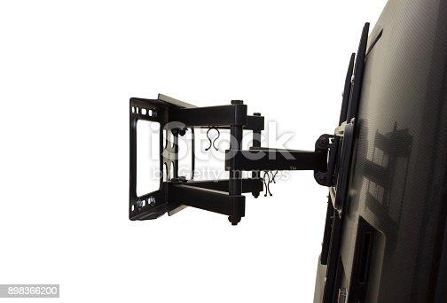 istock isolation Black bracket for TV on a white background 898366200