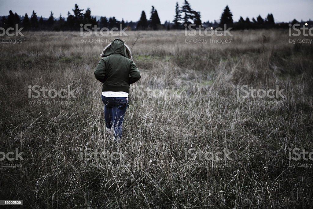 Isolation Field Portrait royalty-free stock photo