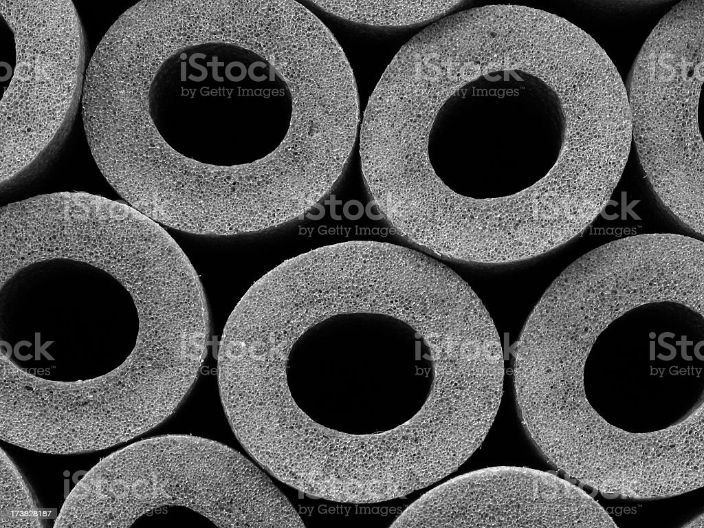 isolation tubes foam insulation background royalty-free stock photo
