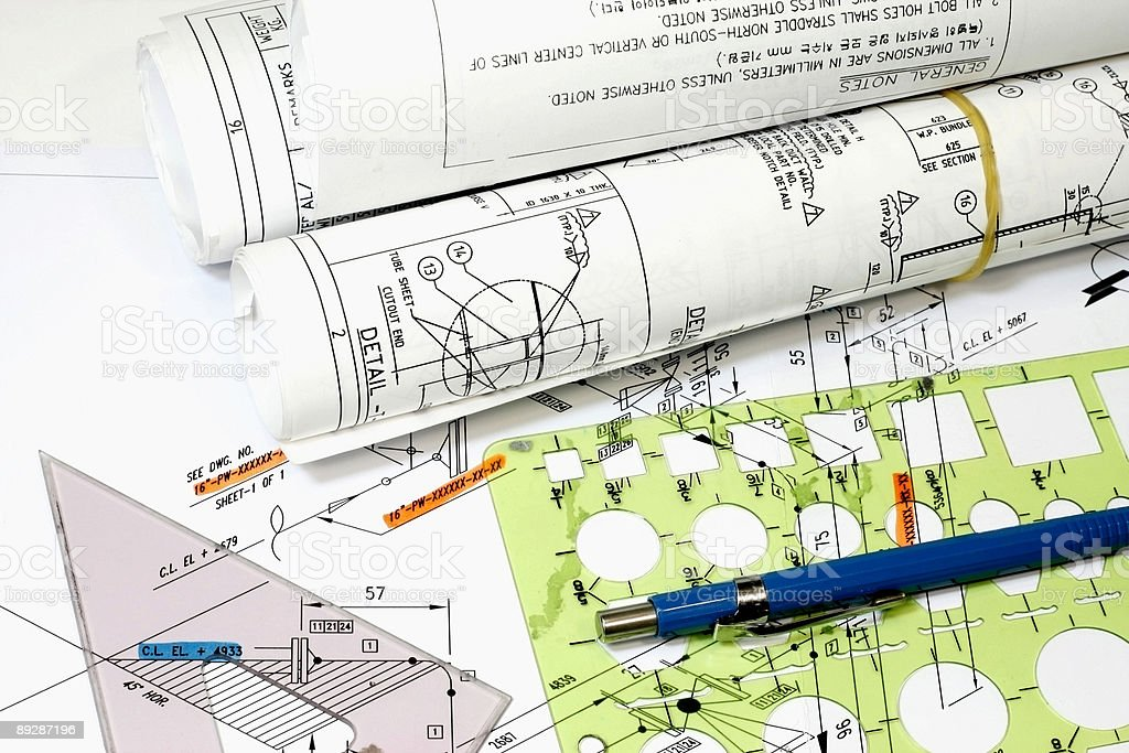 Isometric Drawings royalty-free stock photo