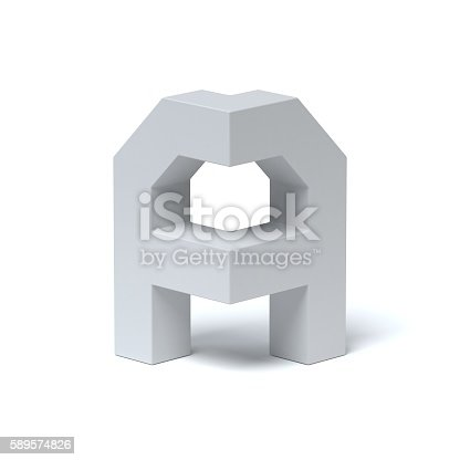 istock Isometric font letter A 589574826