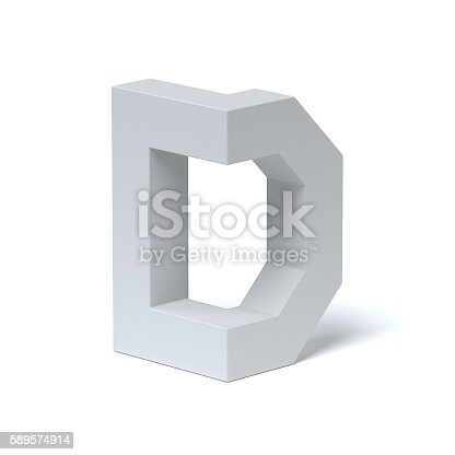583978154 istock photo Isometric font letter D 589574914