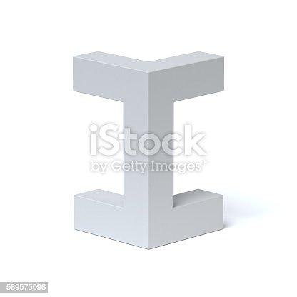 istock Isometric font letter I 589575096