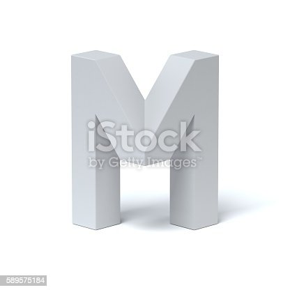 istock Isometric font letter M 589575184
