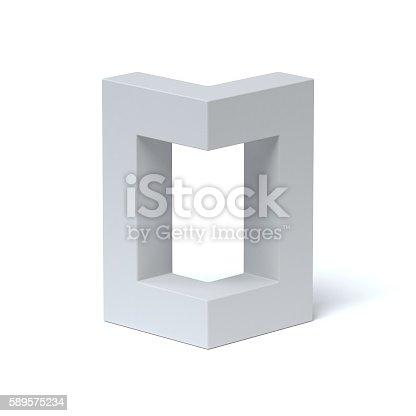 istock Isometric font letter O 589575234