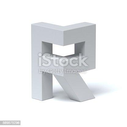 583978558istockphoto Isometric font letter R 589575296