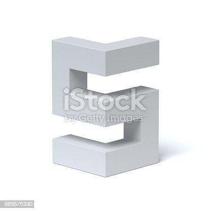 istock Isometric font letter S 589575330