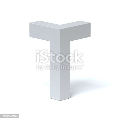 583978622 istock photo Isometric font letter T 589575346