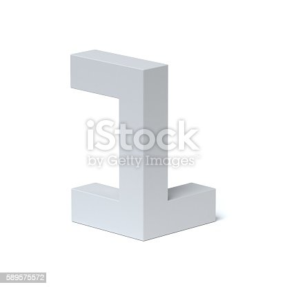 istock Isometric font number 1 589575572