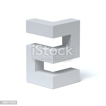 istock Isometric font number 2 589575594