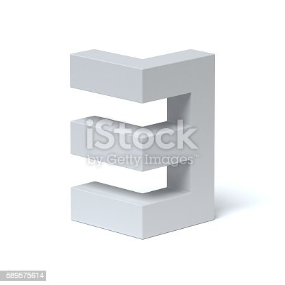 istock Isometric font number 3 589575614