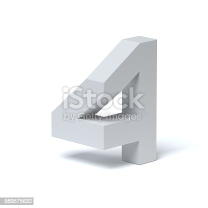 istock Isometric font number 4 589575632