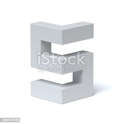 istock Isometric font number 5 589575646