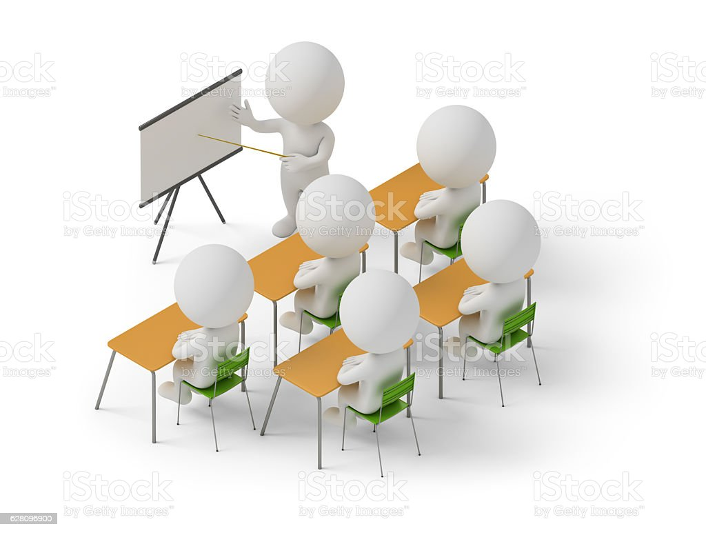 isometric people - training courses - foto stock