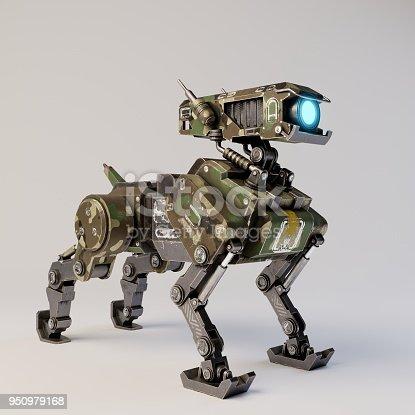 istock Isometric Robot dog 950979168