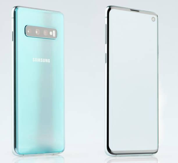 Isometrische Ansicht der Samsung-Galaxie s10 – Foto