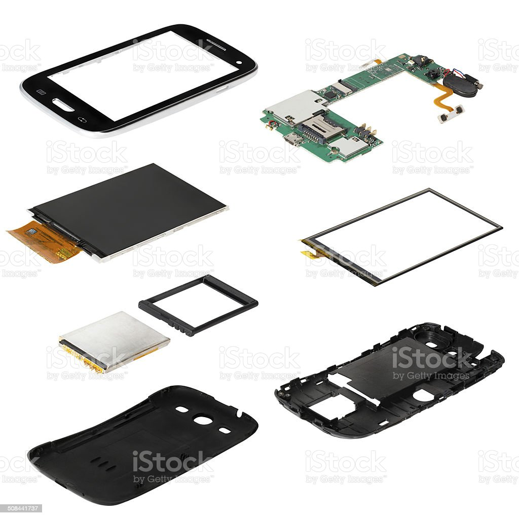 isometry disassembled смартфон стоковое фото