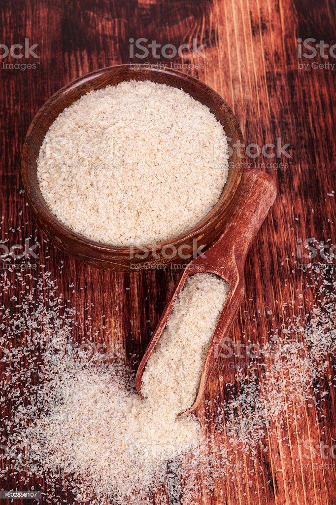 Ispaghula. Dietary supplement. stock photo
