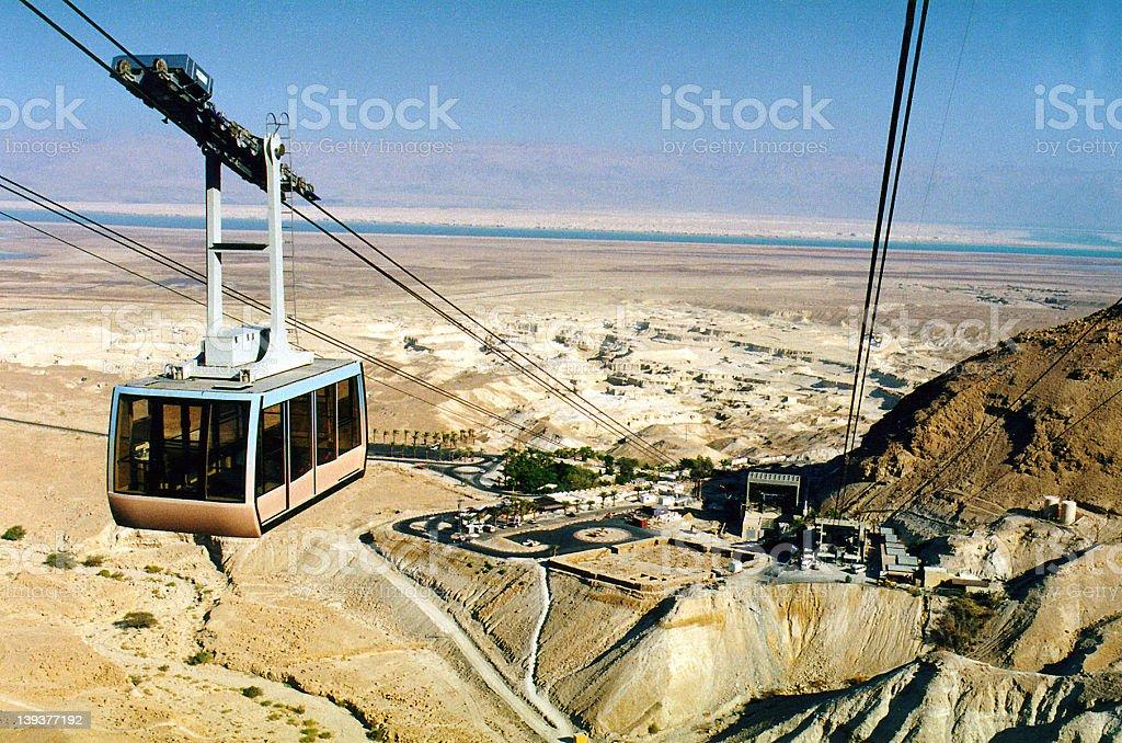 Israel. A funicular to the Masada royalty-free stock photo