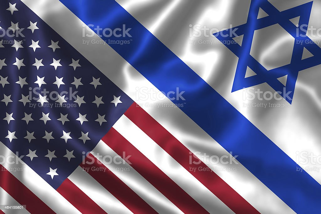 Israel and America relationship. stock photo