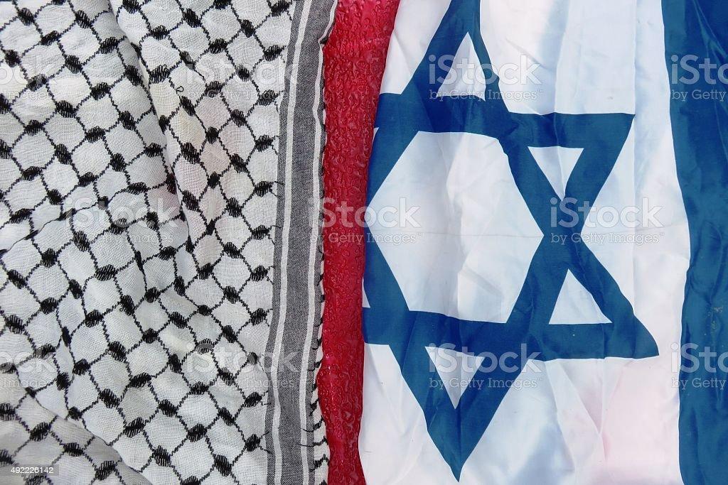 Israel and Palestine stock photo