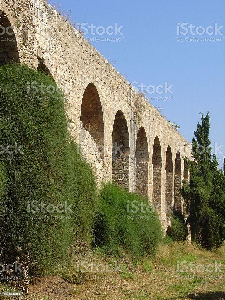 Israel Aqueduct royalty-free stock photo