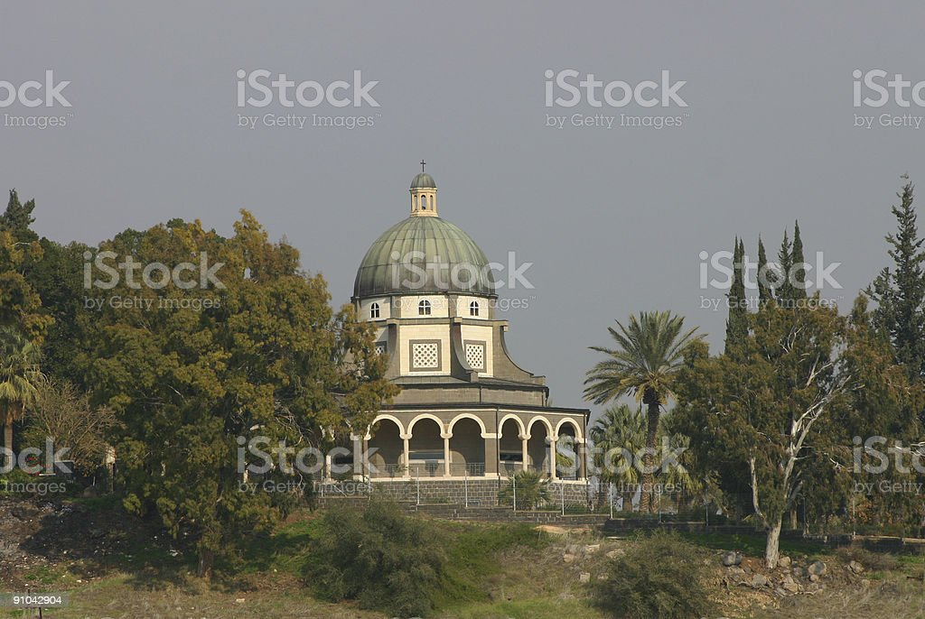 Israel Beatitudes Chapel stock photo