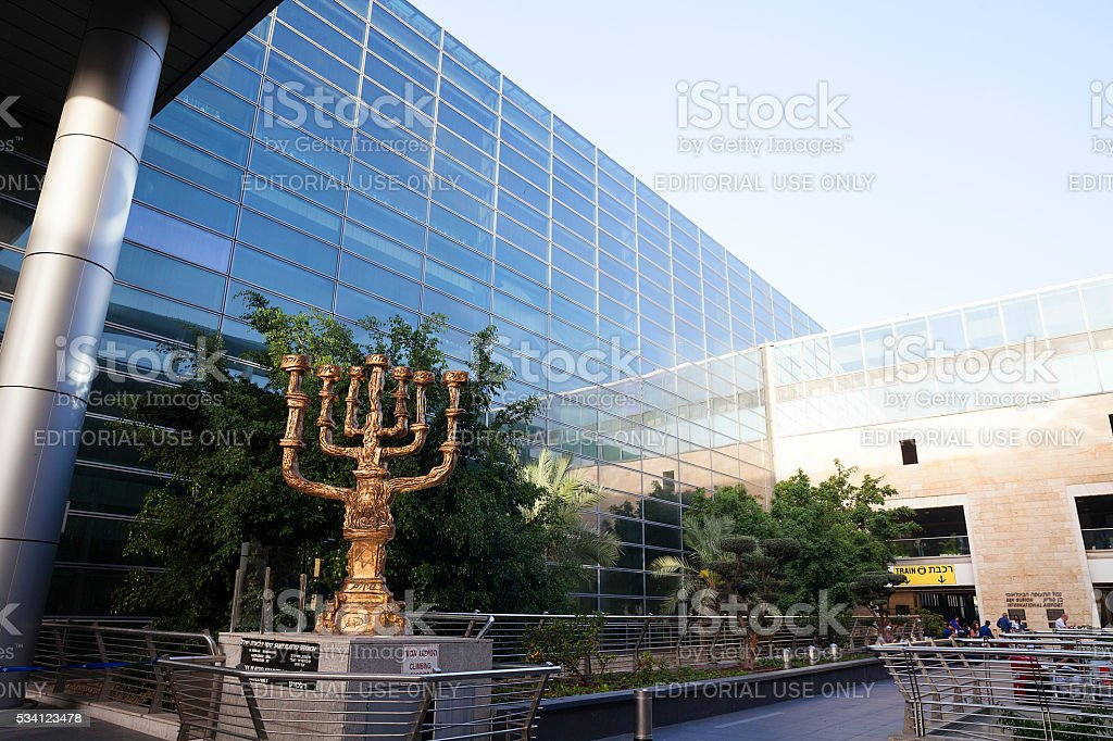 Israel  Ben Gurion International Airport stock photo