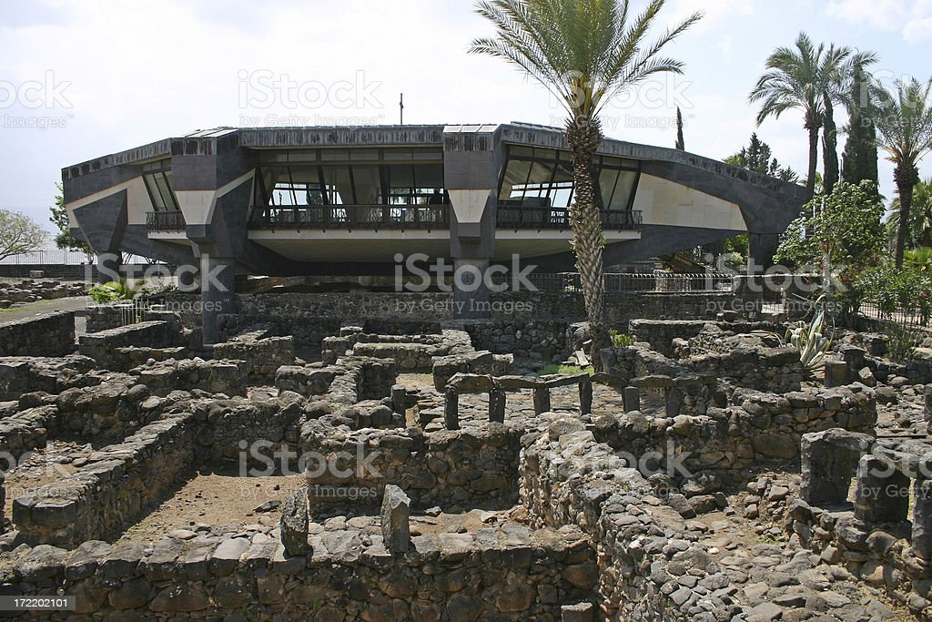Israel Capernaum stock photo