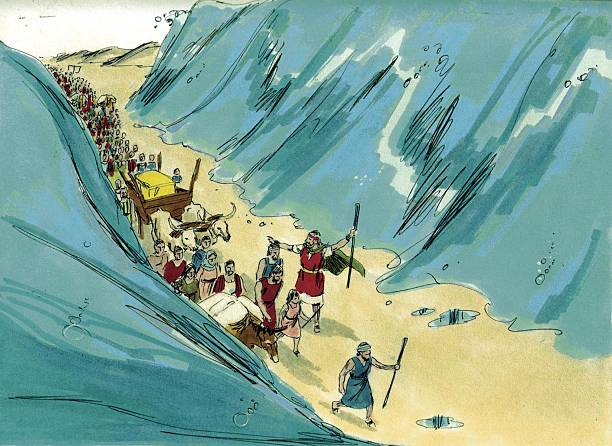 Israel Crosses the Red Sea stock photo