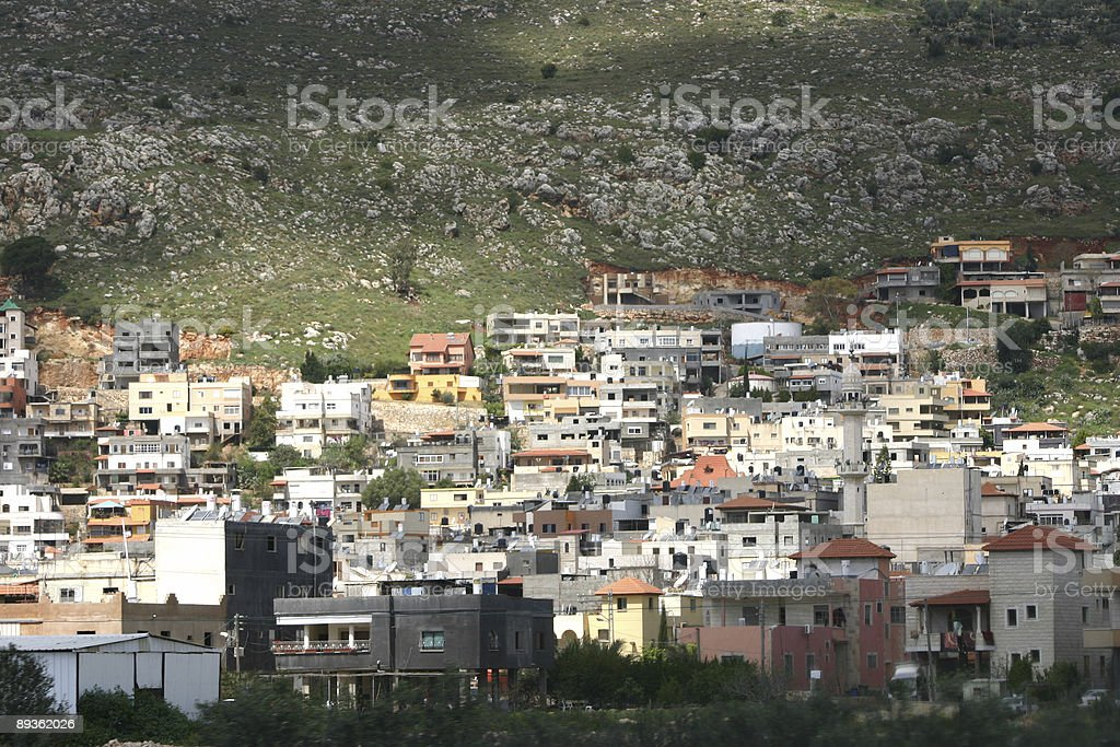 Israel Druze village stock photo