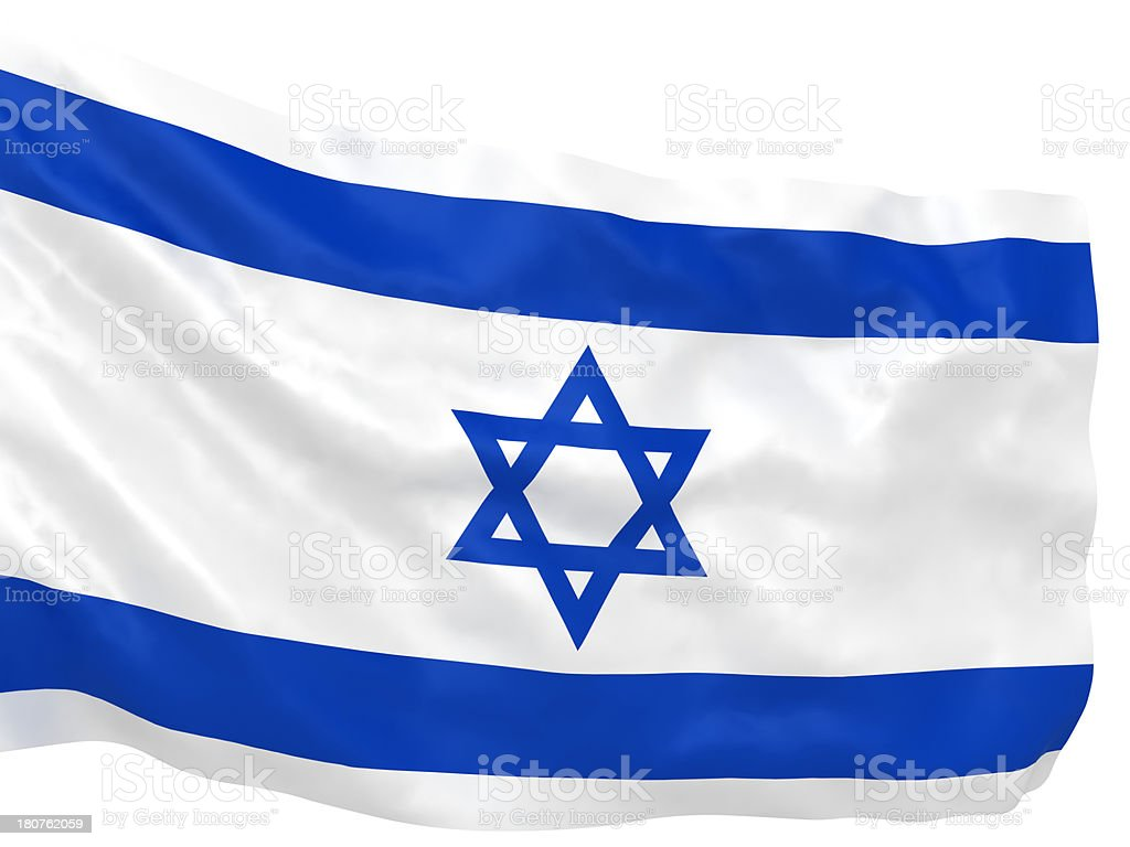 Israel Flag royalty-free stock photo