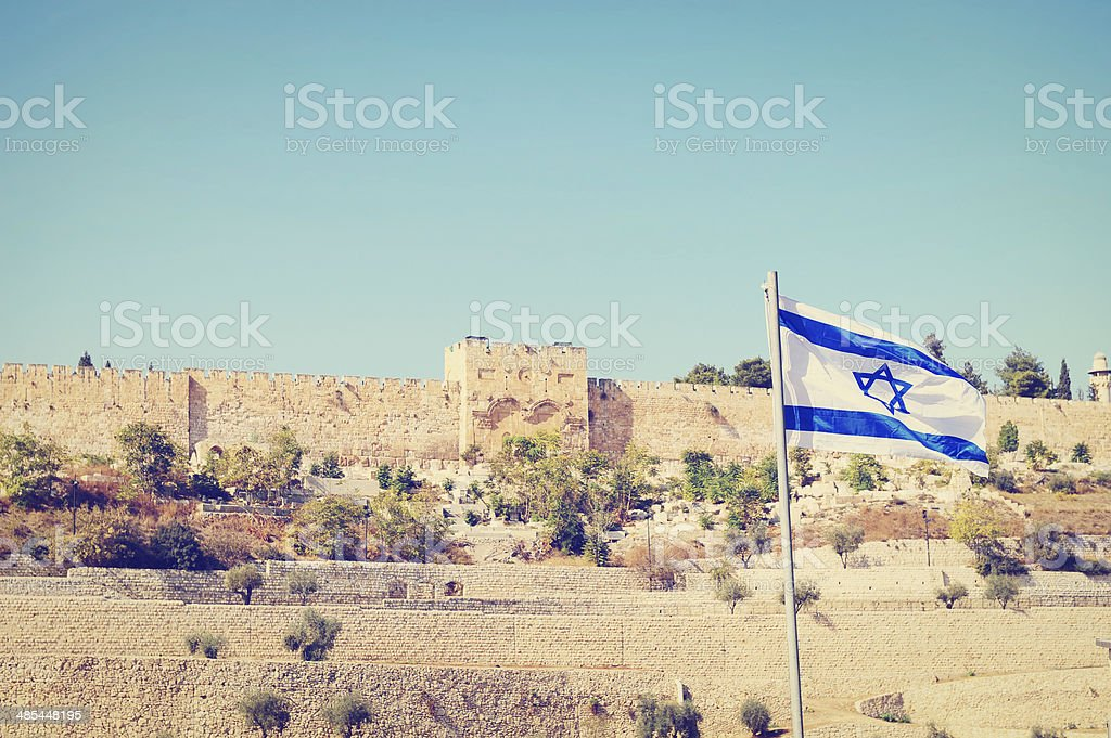 Israel Flag stock photo