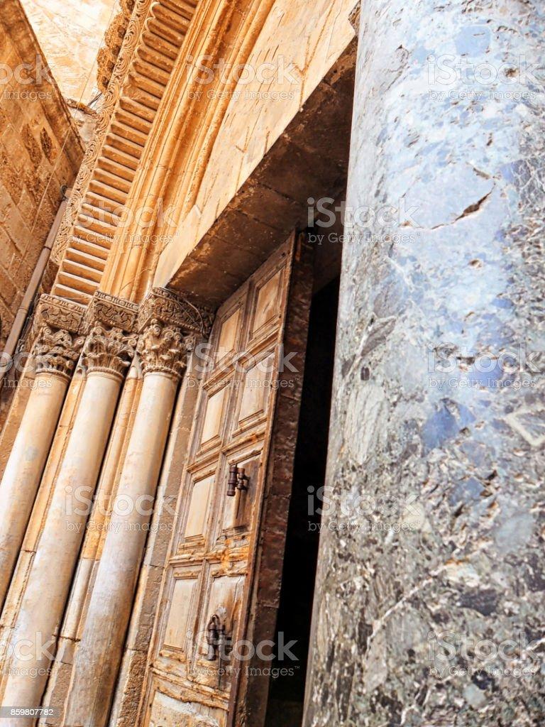 Israel, Jerusalem, Church of the Holy Sepulchre stock photo