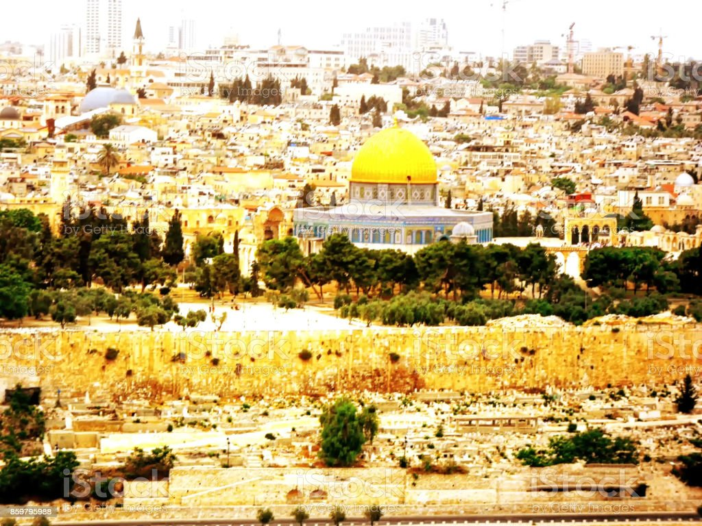 Israel, Jerusalem, Middle East, Al-Aqsa Mosque, Built Structure, Church stock photo