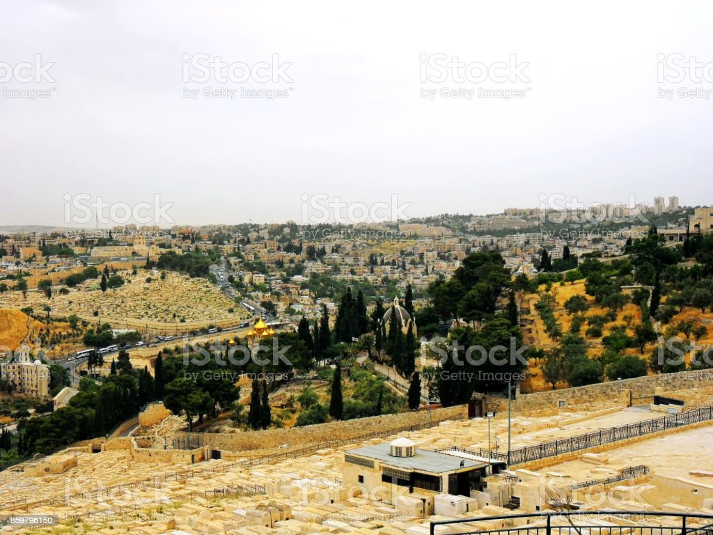 Israel, Jerusalem, Middle East, Built Structure, Church stock photo