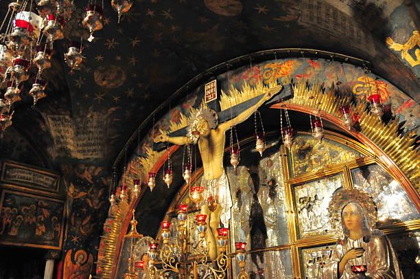 Israel - Jerusalem, the 12th Station of the cross, Golgotha stock photo