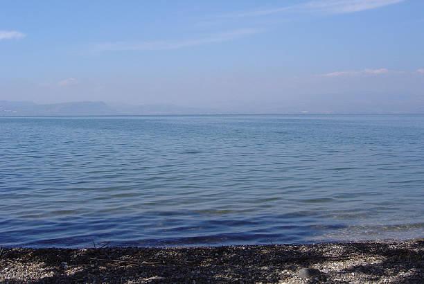 Israel lake Tiberius stock photo