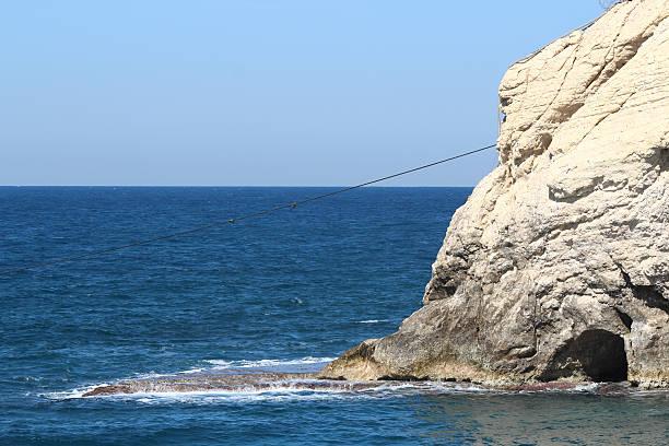 Israel Lebanon Border Blue Line stock photo