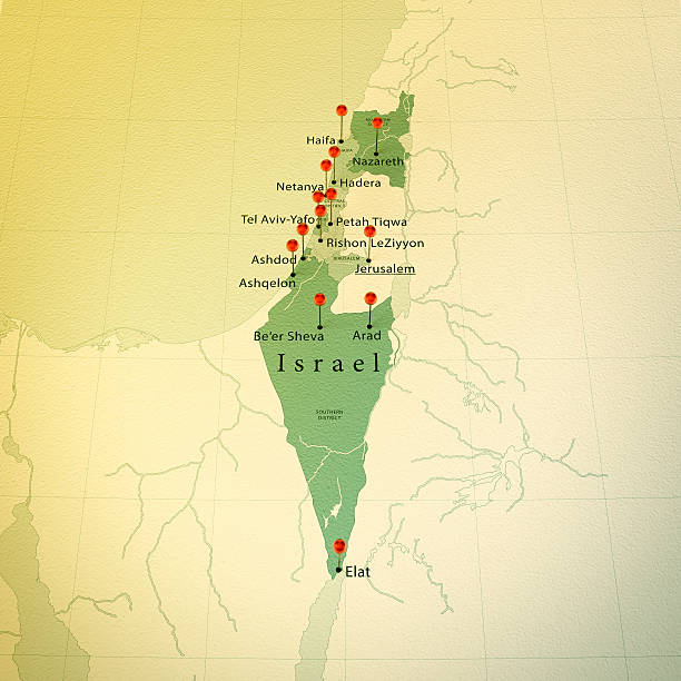 Royalty free israel map pictures images and stock photos istock israel map square cities straight pin vintage stock photo gumiabroncs Choice Image