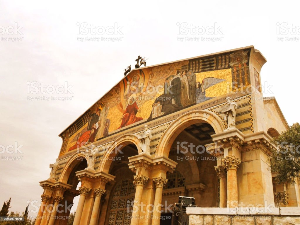 Israel, Middle East, Jerusalem, Church of the Agony, Mount of Olives stock photo